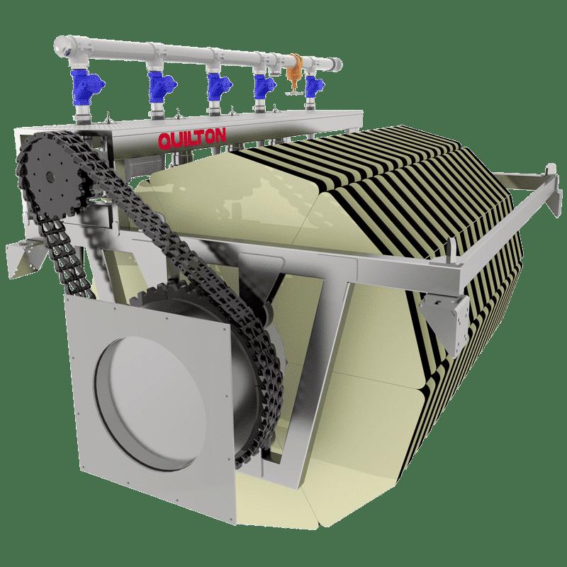 Filtro textil para tratamiento terciario