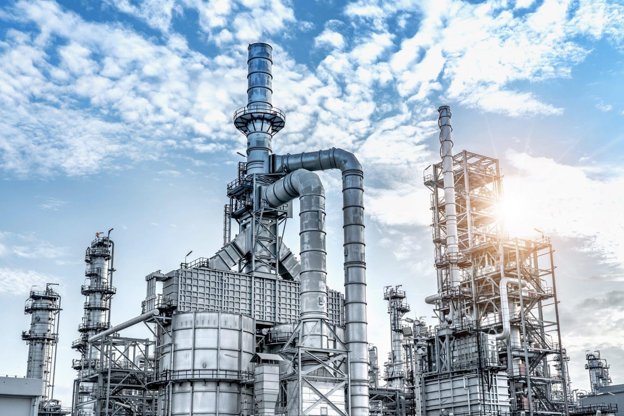 Industrial de la planta de refinería de petróleo y gas
